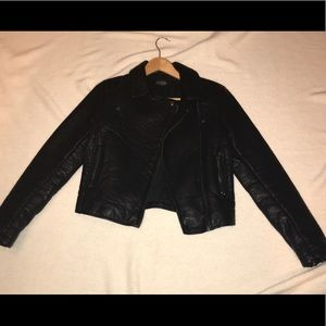 Women's TopShop leather leather jacket
